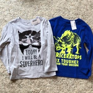 Two NWT The Children's Place long sleeve tees
